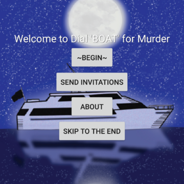 "Dial ""BOAT"" For Murder – A Murder Mystery App For 7-9 People"
